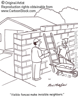 neighbors fences cartoon