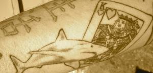 card shark tattoo