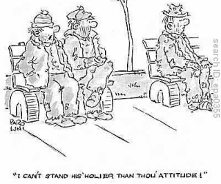 holier than thou cartoon