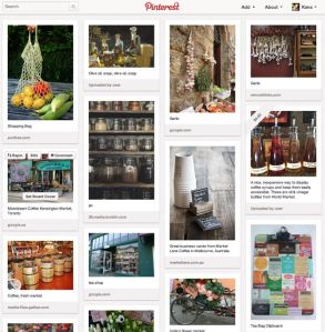 farmers market Pinterest virtual pinboard
