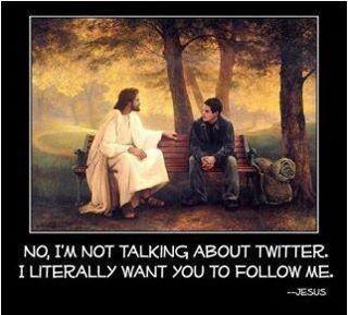 follow Jesus Twitter