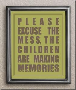 children are making memories