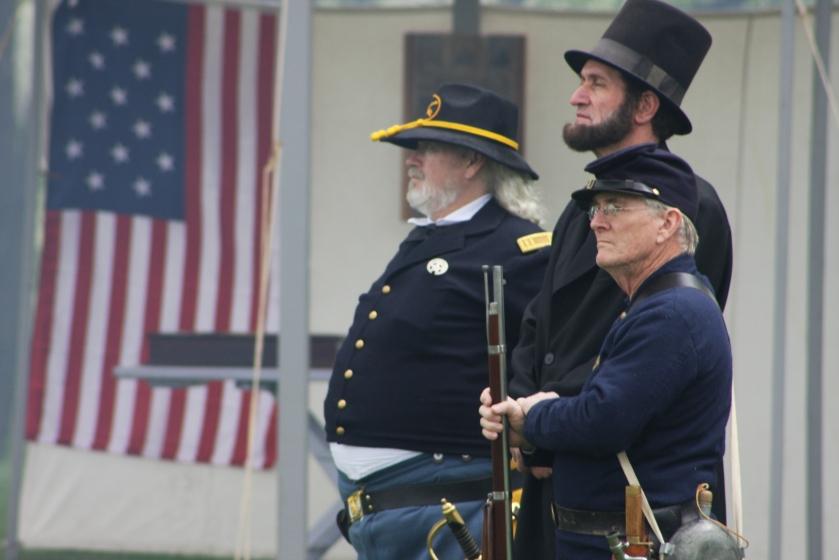 President Abraham Lincoln impersonator
