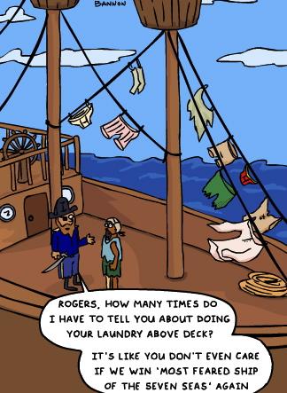 pirate laundry cartoon