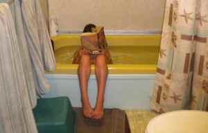 bathtub reader