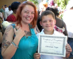 Christian's 6th grade graduation