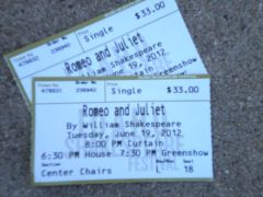 Shakespeare tickets