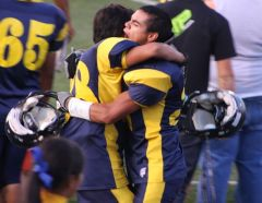 football hug