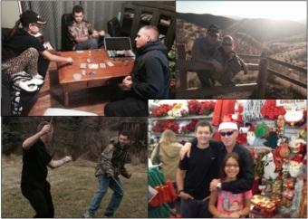 poker, hiking, swordplay, & Christmas decorating...
