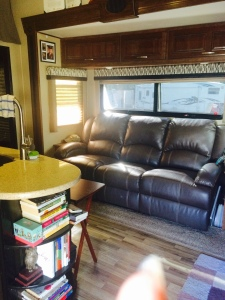 RV living room fifth wheel