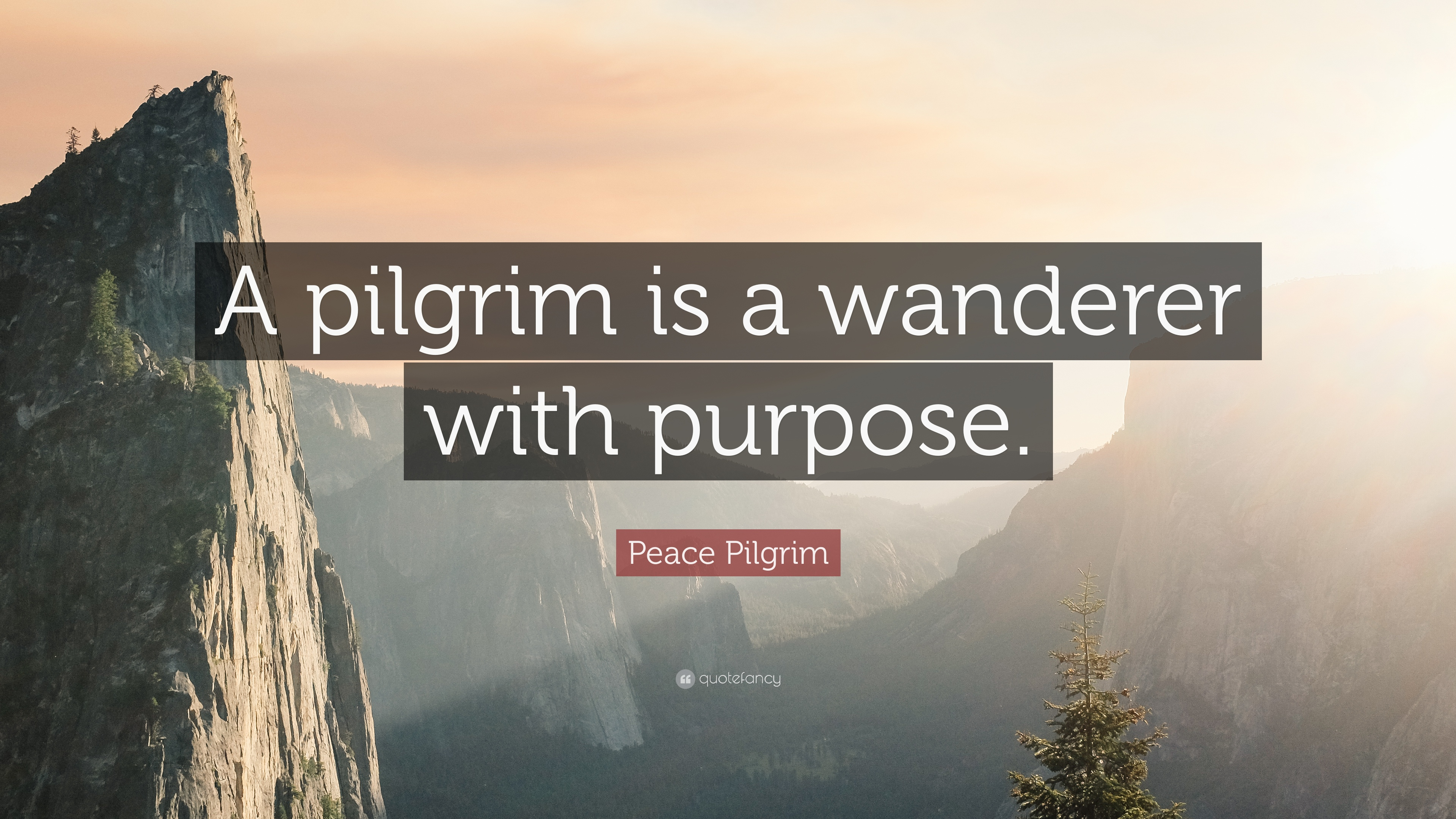 a pilgrim is a wanderer with purpose