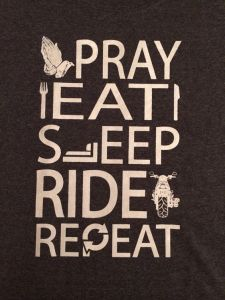 pray eat sleep ride repeat