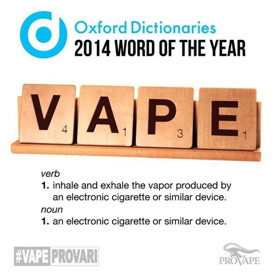 vape definition Oxford word of the year