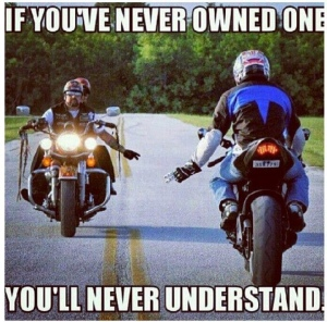 biker wave if you've never owned one you'll never understand