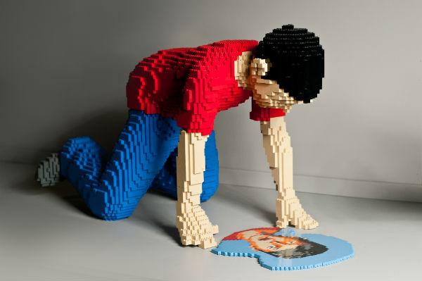 Lego mirror boy art