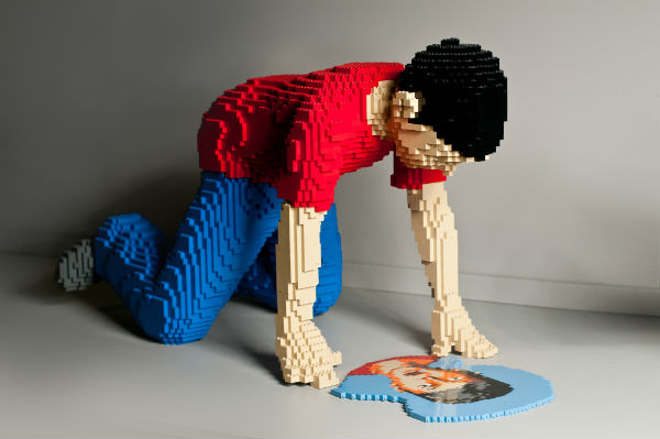 Lego mirror boy art