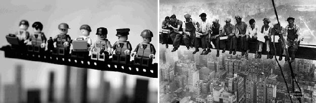 Lunch on a Skyscraper Lego